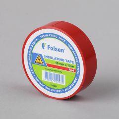 Isoleerteip 15mmx10m, 120µm, punane PVC