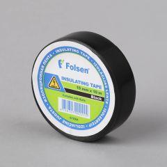 Isoleerteip 15mmx10m, 120µm, must, PVC