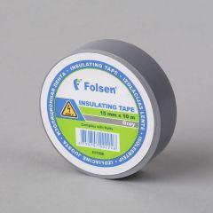 Isoleerteip 15mmx10m, 120µm, hall, PVC