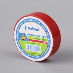 Insulating tape 19mmx20m, 120µm, red, PVC