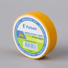 Isoleerteip 19mmx20m, 120µm, kollane, PVC