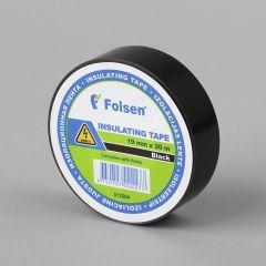 Isoleerteip 19mmx20m, 120µm, must, PVC