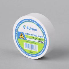 Isoleerteip 19mmx20m, 120µm, valge, PVC