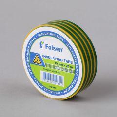 Isoleerteip 19mmx20m, 120µm, kollane/roheline, PVC