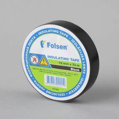 Isoleerteip -18°C +105°C, 19mmx33m, 120µm, must, PVC
