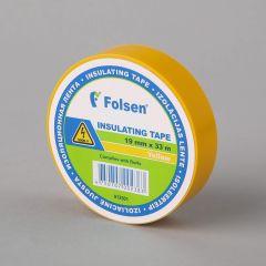 Isoleerteip 19mmx33m, 120µm, kollane, PVC