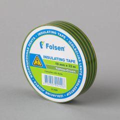 Isoleerteip 19mmx33m, 120µm, kollane/roheline, PVC