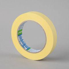 Masking tape 60°C, 19mmx50m, yellow, paper