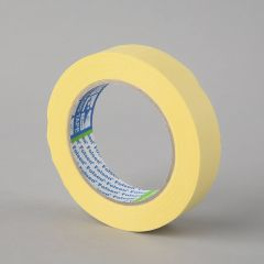 Masking tape 60°C, 25mmx50m, yellow, paper