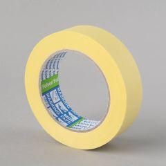 Masking tape 60°C, 30mmx50m, yellow, paper