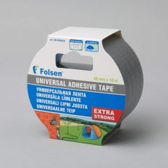 Universal adhesive tape Extra Strong 48mmx10m, 270µm, gray, fabric/PE
