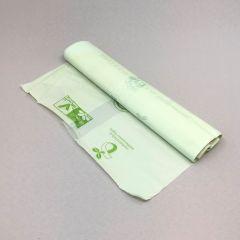 Biodegradable trash bag 30l, 480x600mm, 20µm, transp, 15pcs/roll