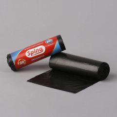 Prügikott Spino 20l, 450x540mm, 9µm, must, rullis 20tk