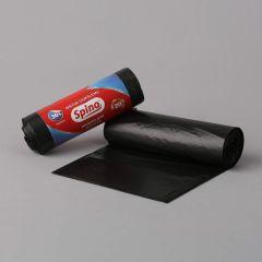 Prügikott Spino 30l, 520x640mm, 10µm, must, rullis 20tk