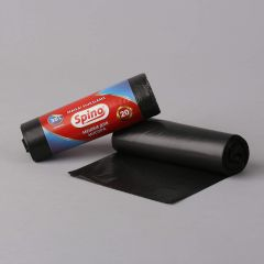 Prügikott Spino 35l, 550x680mm, 10µm, must, rullis 20tk