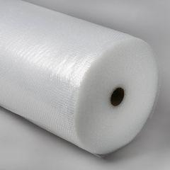 Bubble wrap film 750mmx100m, bubble 10x4,2mm, 80µm, transp, PE