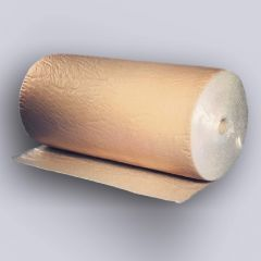 Kraft backed bubble film 1200mmx75m, 40µm, transp/brown, PE/paper