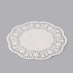 White paper round lace doily ø 160mm, 250pcs/pack