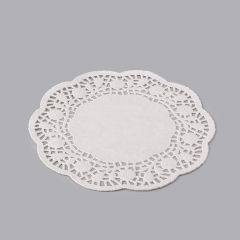 White paper round lace doily ø 230mm, 500pcs/pack