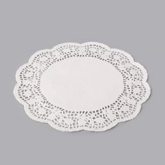 White paper round lace doily ø 280mm, 250pcs/pack