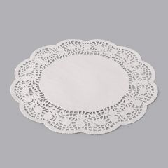 White paper round lace doily ø 300mm, 250pcs/pack