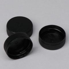Must pudelikork plastpudelile kaelaga 38mm, PP