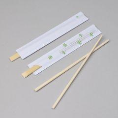 Bambusest sushipulgad avatud paberis 210mm, pakis 100pr