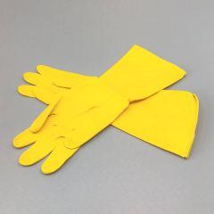 Lateksist majapidamiskindad S/6-6.5, kollane, pakis 12pr