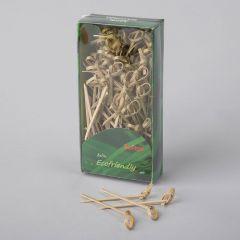Aasaga suupistetikk 70mm, pruun, bambus, pakis 100tk