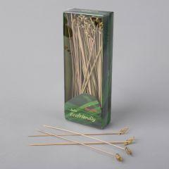 Aasaga suupistetikk 180mm, pruun, bambus, pakis 100tk