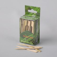 Suupistetikk 70mm, pruun, bambus, pakis 100tk