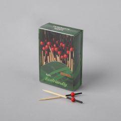 Suupistetikk 70mm, must/punane, bambus, pakis 100tk