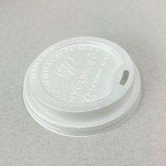 Biolagunev kaas kohvitopsile ø 89mm, valge, CPLA, pakis 50tk