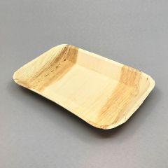 Biodegradable palm leaf plate 230x160x30mm, brown, 25pcs/pack