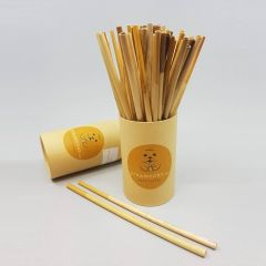 Strawerry reusable straw from reed 200mm, 60pcs/pack