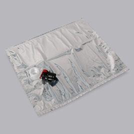 Bag in Box kraaniga mahla säilituskott 20l, hõbe, LDPE