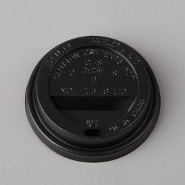 Kaas kartongist kohvitopsile ø 80mm, must, PS, pakis 100tk