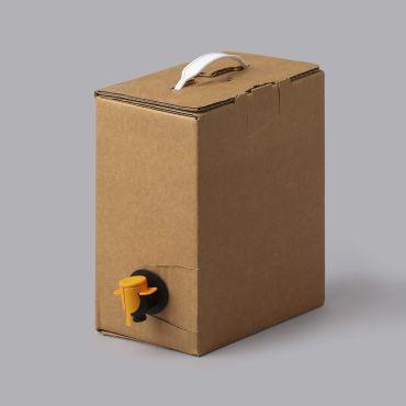 Bag in Box karp 3l kotile, 175x106x223mm, paksus 4mm, pruun, lainepapp